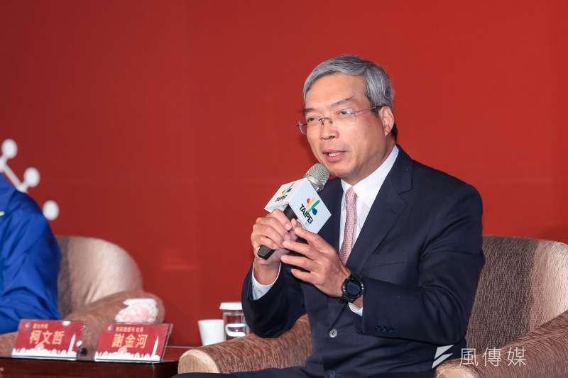 財信傳媒董事長謝金河(見圖)認為,匯豐在美中兩強的壓力下,可能成為香港的黑天鵝。(資料照,顏麟宇攝)
