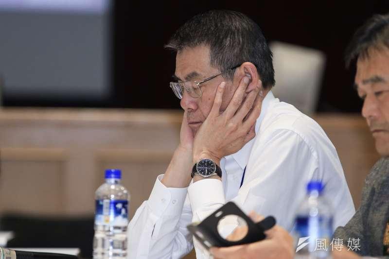 20190213-華航公司總經理謝世謙13日出席華航勞資協商會後記者會。(簡必丞攝)