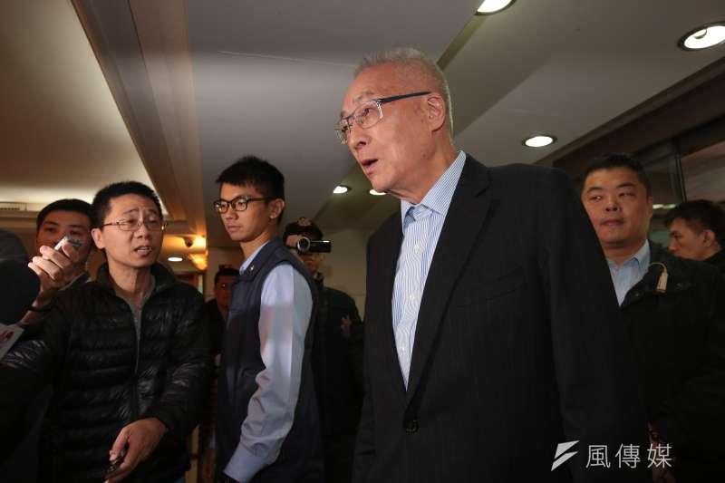 20190214-國民黨主席吳敦義14日出席立法院實務研討會。(顏麟宇攝)