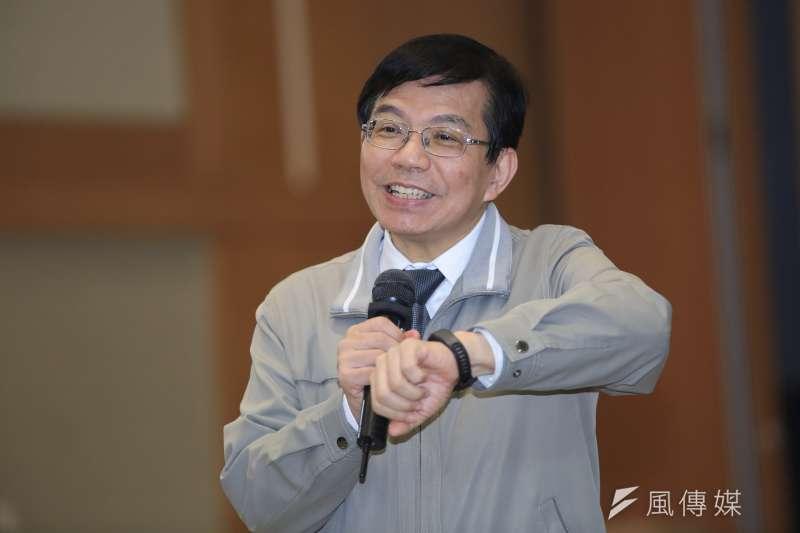 20190214-交通部次長王國材14日繼續出席華航勞資協商。(簡必丞攝)