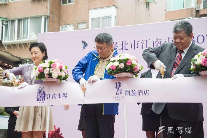 有「東區羅姐」之稱的資深藝人羅霈穎13日在臉書發文,要台北市長柯文哲(中)別只想著總統大位,讓台北復活、讓東區起死回生。(甘岱民攝)