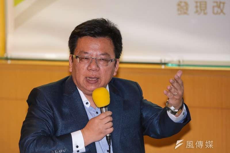 民進黨立委李俊俋出席青平台基金會「2020:如何遏止公投亂象」 座談會,他大概忘記當年說過的話(顏麟宇攝)