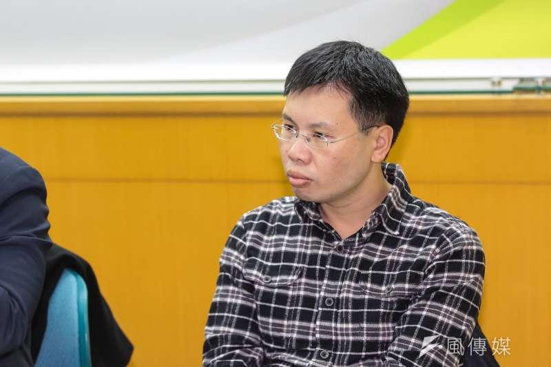 20190214-淡大公行系助理教授涂予尹14日出席青平台基金會「2020:如何遏止公投亂象」 座談會。(顏麟宇攝)