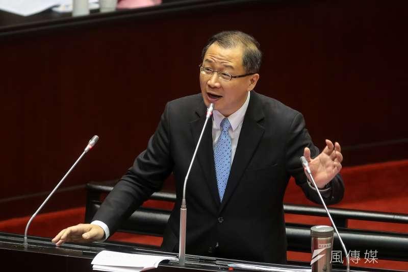 20190215-國民黨書記長吳志揚15日於立院質詢。(顏麟宇攝)