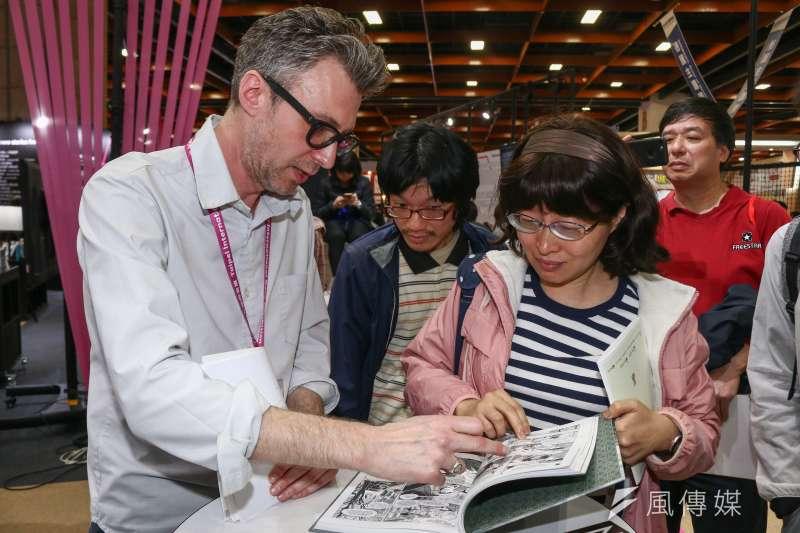 20190215-「第27屆台北國際書展」漫畫家意許(左)專訪。(蔡親傑攝)