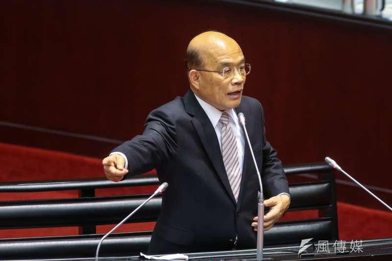 20190215-行政院長蘇貞昌15日於立院備詢。(顏麟宇攝)