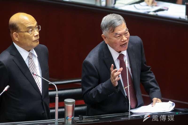 經濟部長沈榮津憑什麼這樣亂開支票?(資料照片,顏麟宇攝)