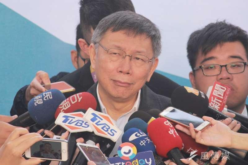 台北市長柯文哲想選總統,難題並不少。(方炳超攝)