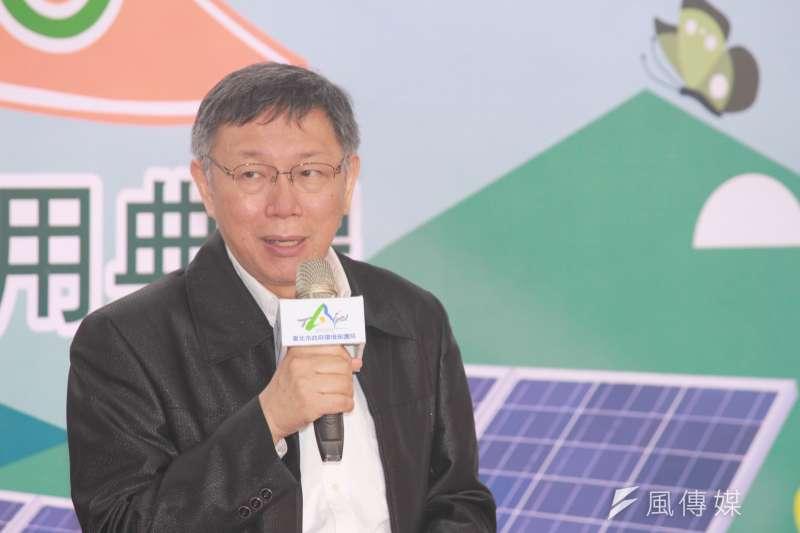 台北市長柯文哲15日受訪時,被問到全台跑是不是要為選總統暖身?柯文哲回應說:其實也不要想那麼多。(方炳超攝)