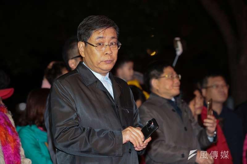 20190216-上海市台辦主任李文輝16日至台北燈會上海燈區進行點燈儀式。(顏麟宇攝)