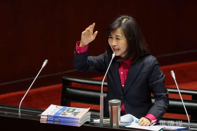20190219-國民黨立委林奕華19日於立院質詢。(顏麟宇攝)