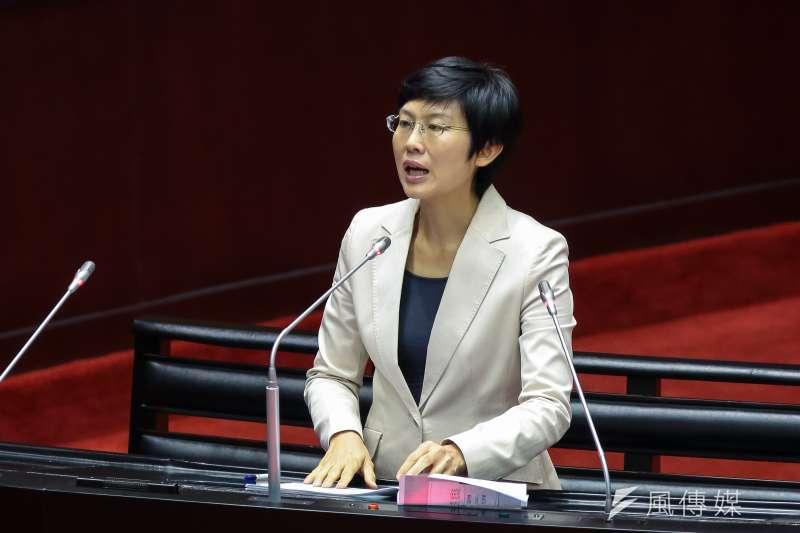 20190219-民進黨立委林岱樺19日於立院質詢。(顏麟宇攝)