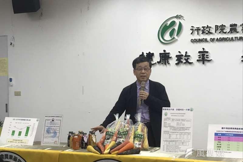 農委會藥物毒物試驗所(藥毒所)從去年起申請成為經韓國境外認證的藥物殘留檢驗實驗室,經其檢定合格之報告,視同受韓國政府認可。圖為藥毒所副所長何明勳。(廖羿雯攝)