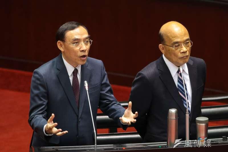 法務部長蔡清祥在總質詢時回應同婚專法等問題。(顏麟宇攝)
