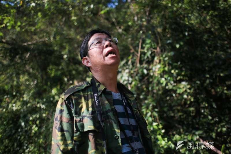 私人土地劃為保育區難度高,台中社大講師吳金樹乾脆集資直接買下小塊山坡地,把土地還給石虎和大自然。(簡必丞攝)