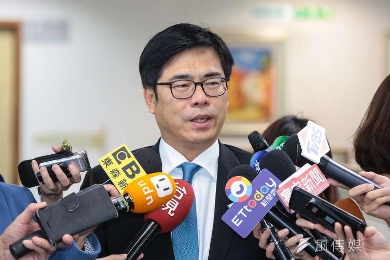 高雄市長韓國瑜質疑遭監聽,行政院副院長陳其邁(見圖)28日表示,政治攻防要有證據。(資料照,顏麟宇攝)