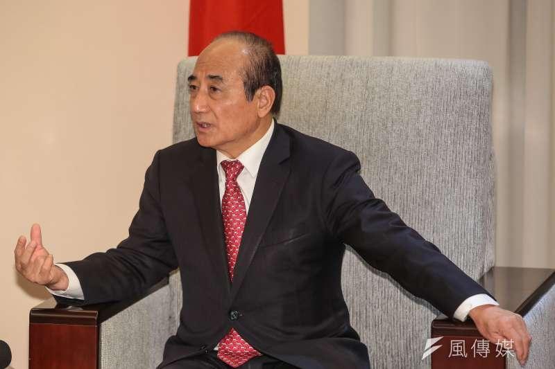 20190220-前立法院長王金平20日於立院會見台中美國商會代表。(顏麟宇攝)