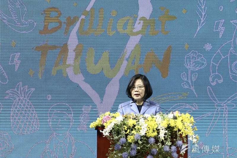 20190220-外交部108年新春聯歡晚會,總統蔡英文。(陳品佑攝)