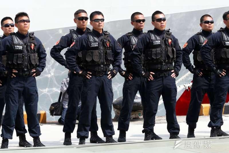 20190221_海巡特勤隊現隸屬於海巡署偵防分署,成軍至今約10多年,是國內最年輕的一支反恐特勤隊伍。(資料照,蘇仲泓攝)