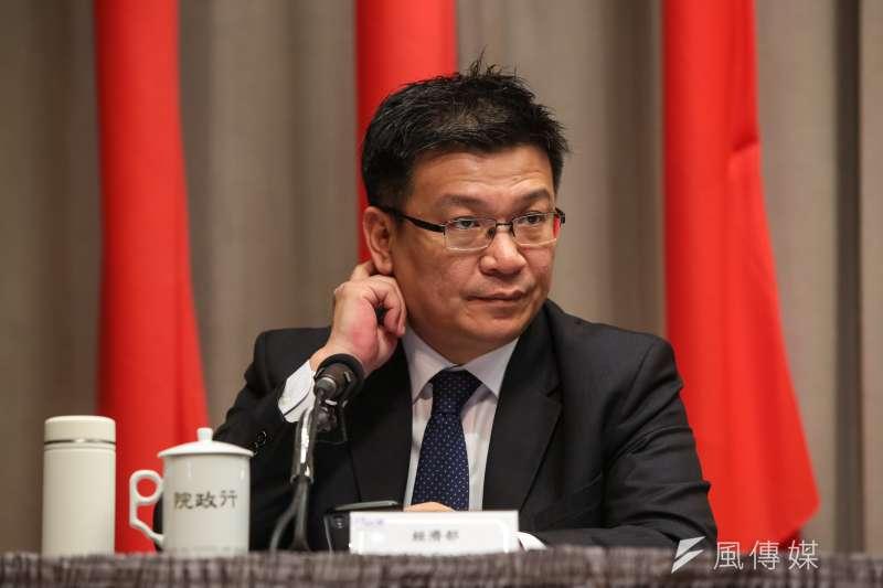 20190221-經濟部次長曾文生21日出席行政院會後記者會。(顏麟宇攝)