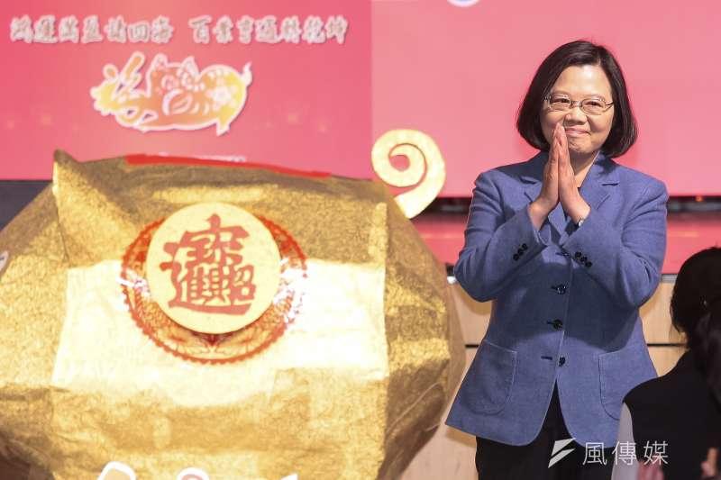 總統蔡英文22日出席工商協進會新春團拜。(資料照片,顏麟宇攝)