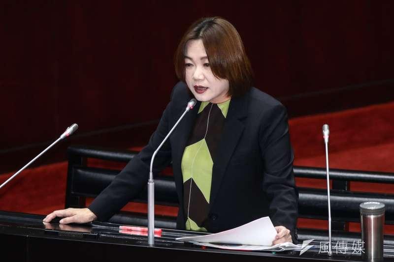 20190222-國民黨立委馬文君22日於立院質詢。(蔡親傑攝)