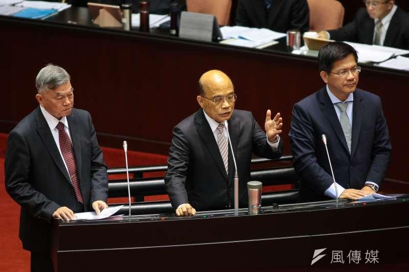 20190222-行政院長蘇貞昌(中)22日於立院備詢。(顏麟宇攝)