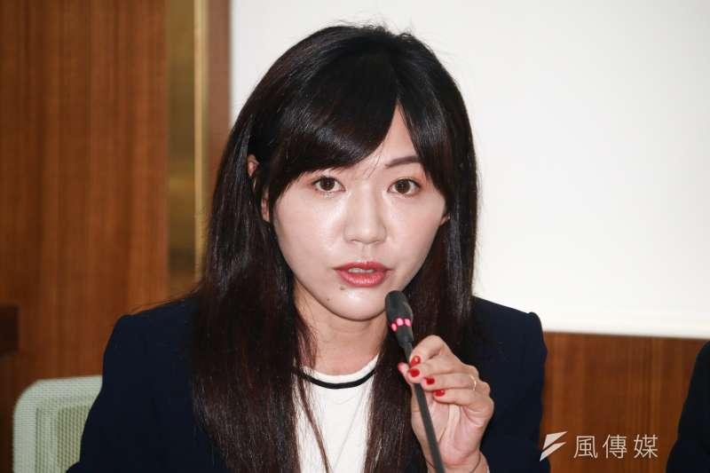 台北市議員吳沛憶力挺蔡英文連任。(資料照片,蔡親傑攝)