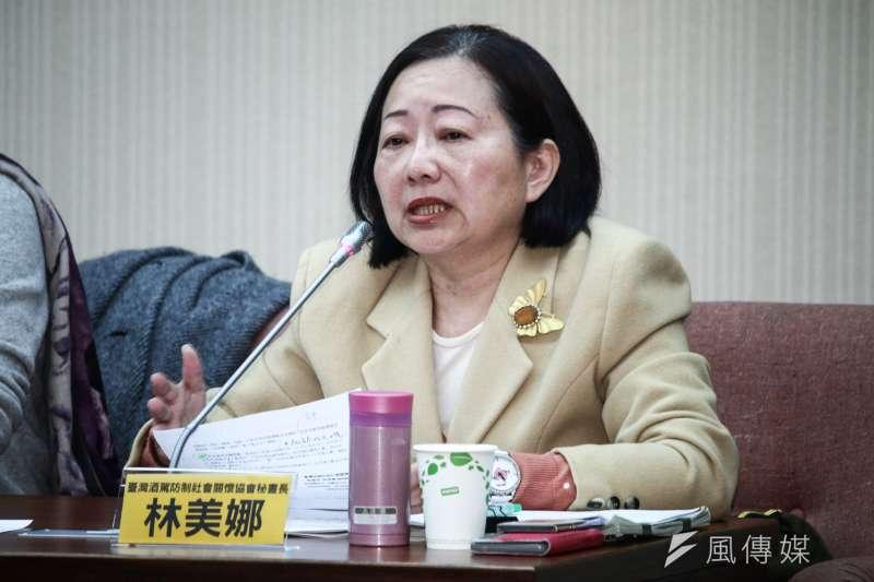 立法院「悲劇不該繼續發生,酒駕防制應立即檢討」公聽會,圖為台灣酒駕防制社會關懷協會秘書長林美娜。(資料照片,蔡親傑攝)