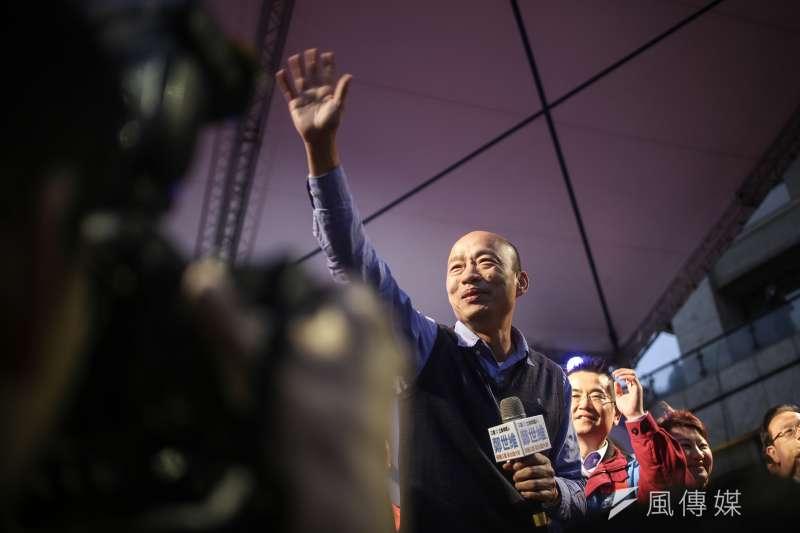 高雄市長韓國瑜聲勢難擋,被拱選總統之聲不絕於耳。(陳品佑攝)