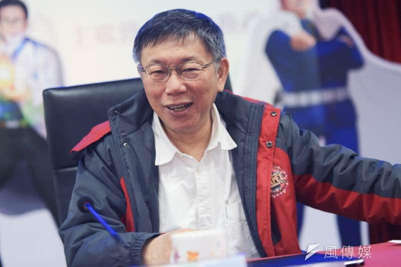 台北市長柯文哲1日在高雄進行演講,會中分析高雄市長韓國瑜勝選,認為網路力量造就極端政治。(資料照,簡必丞攝)