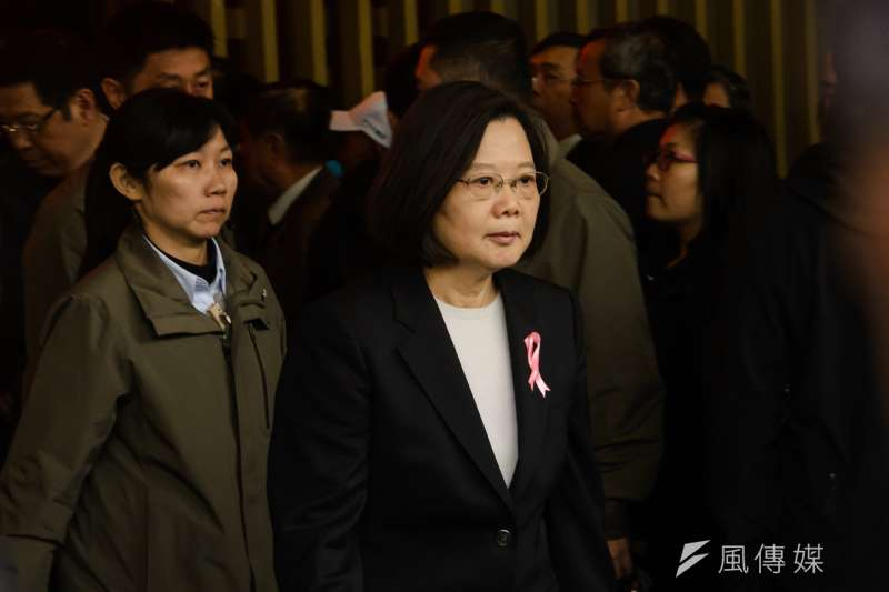 20190224-國策顧問黃爾璇公祭,總統蔡英文。(甘岱民攝)