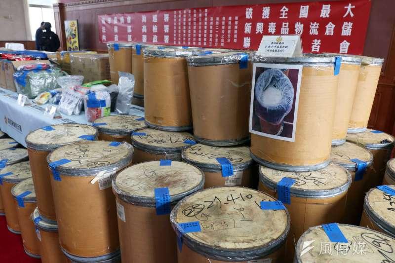 2019-02-25_海巡署破獲史上最大宗新興毒品倉儲,市值高達10億元,可供500萬人吸食。(蘇仲泓攝)
