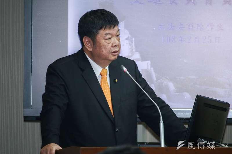 國民黨立委陳雪生(見圖)認為,國民黨立委太仁慈、沒有殉道精神,才會讓占領立法院行動在短時間內落幕。(資料照,蔡親傑攝)
