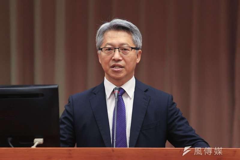 中研院院長廖俊智27日於立院教育及文化委員會備詢。(簡必丞攝)