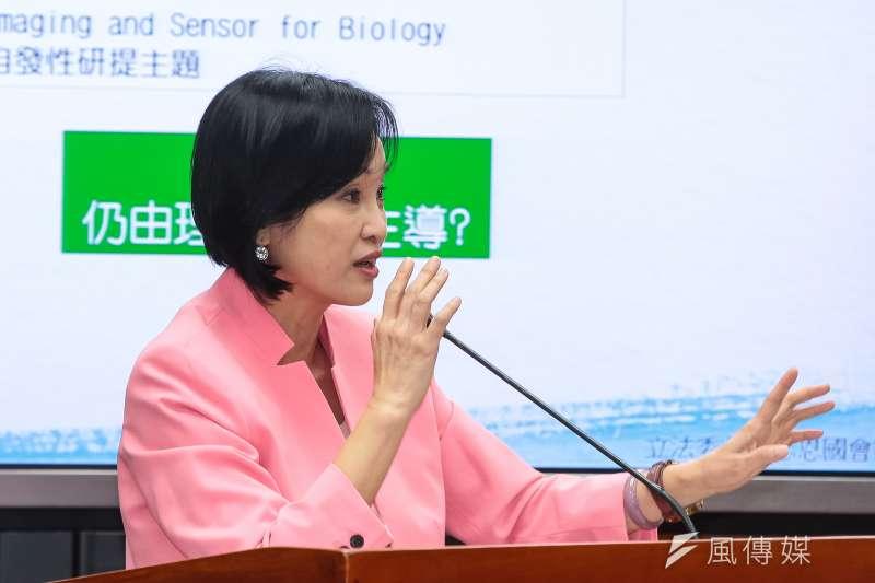20190227-國民黨立委柯志恩27日於立院教育委員會質詢。(顏麟宇攝)