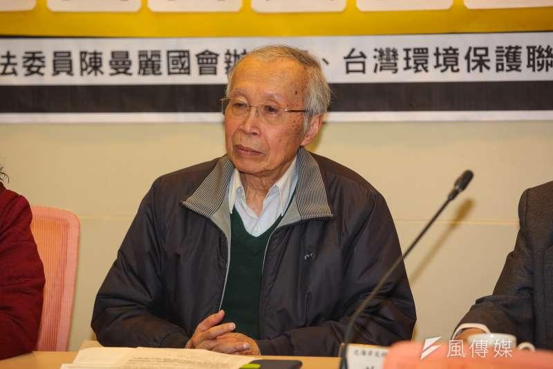 台灣環境保護聯盟創會會長施信民(圖)批朱立倫「離開位置,腦袋就換了」,作者認為,怎麼都不願意用科學數據與邏輯來理性討論。(資料照,顏麟宇攝)