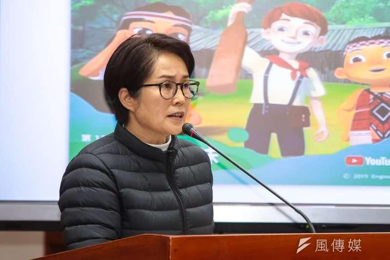 20190227-無黨籍立委高金素梅27日於立院教育委員會質詢。(顏麟宇攝)
