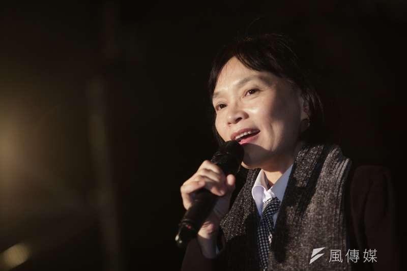 促轉會代主委楊翠(見圖)在陳文成紀念晚會上說,「陳文成穿著藍色襯衫被帶走,已是台灣歷史最痛的身影……」(資料照,簡必丞攝)