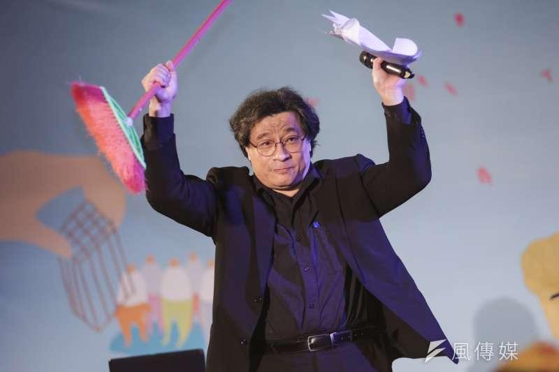 20190228-吳叡人28日出席共生音樂節。(簡必丞攝)