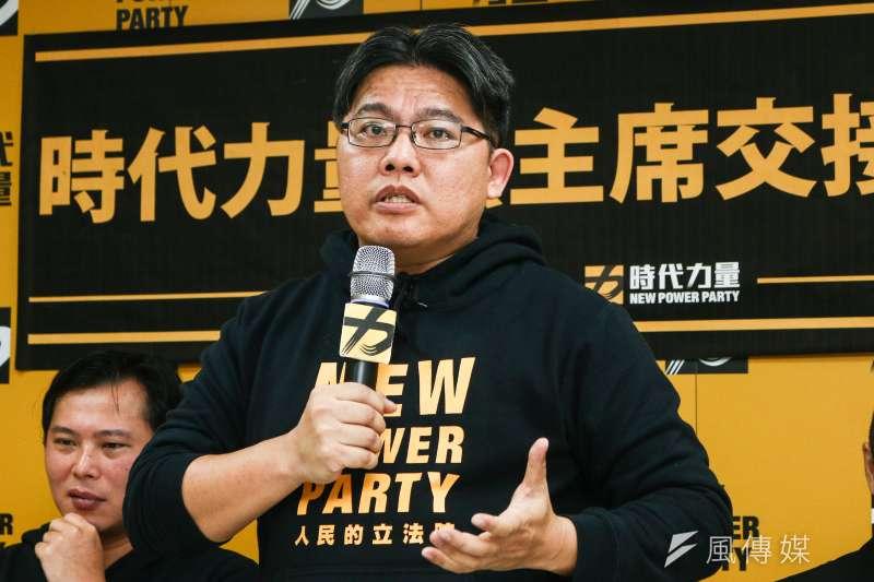 時代力量黨今(1)日主席交接,新任主席邱顯智表示2020年大選不會找柯文哲站台。(蔡親傑攝)