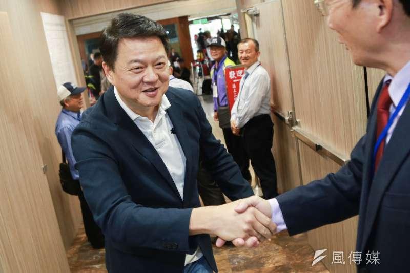 前台北縣長周鍚瑋表示,台北市長柯文哲一定會出來選,「但剋柯文哲的剋星不只韓國瑜,還有我周錫瑋啊!」。(資料照,簡必丞攝)