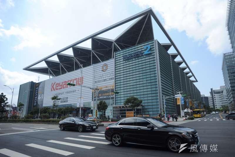 20190304-南港展覽館二館外觀。(甘岱民攝)