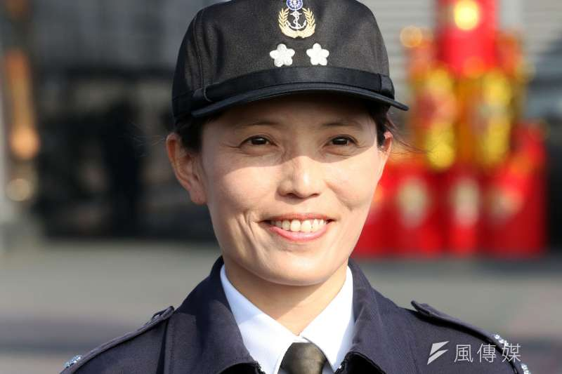 20190304 uploaded-2017年1月曝光的海軍第一位女性二級艦長尤鐿濂。(蘇仲泓攝)