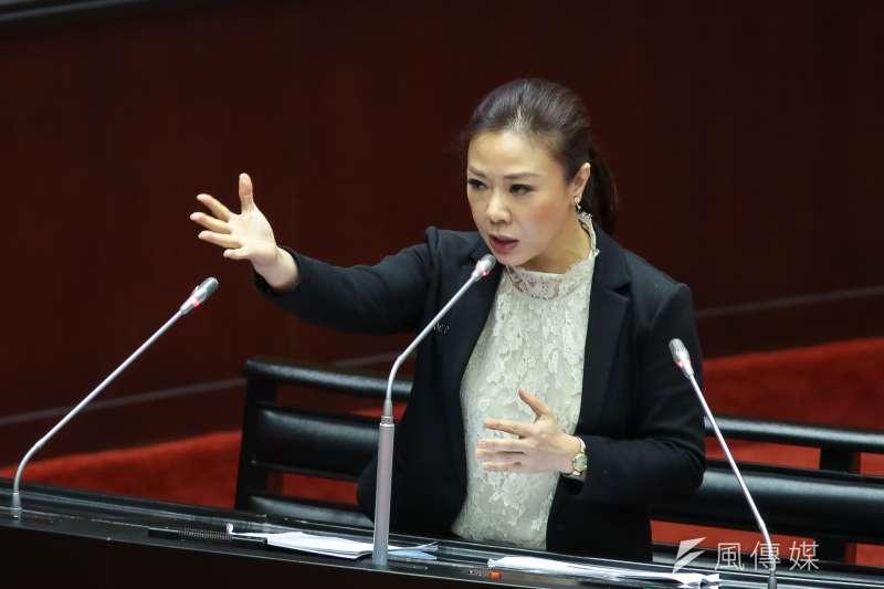 20190305-國民黨立委李彥秀5日於立院質詢。(顏麟宇攝)