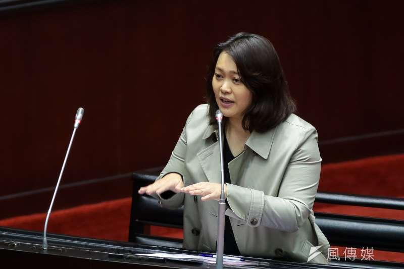 20190305-親民黨立委陳怡潔5日於立院質詢。(顏麟宇攝)
