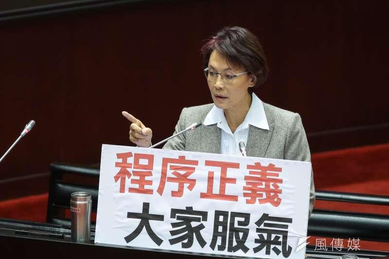 20190305-國民黨立委黃昭順5日於立院質詢。(顏麟宇攝)
