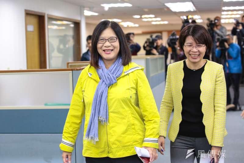 20190306-民進黨立委管碧玲、黃秀芳6日出席民進黨中常會。(顏麟宇攝)