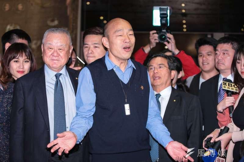 高雄市長韓國瑜出席工商協進會理監事聯席會議,允諾繼續推動高雄市自貿區。(顏麟宇攝)