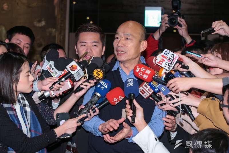 高雄市長韓國瑜回應新加坡超市高雄水果是否下架問題。(資料料照片,顏麟宇攝)